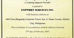 Giấy phép hoạt động kinh doanh Pagcor
